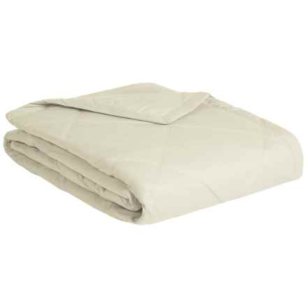 Melange Home Down Alternative Diamond Box Blanket - Full-Queen, 233 TC in Sand Dune - Closeouts