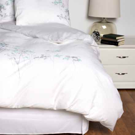 Melange Home Embroidered Duvet Set - Full-Queen in White/Turq - Closeouts