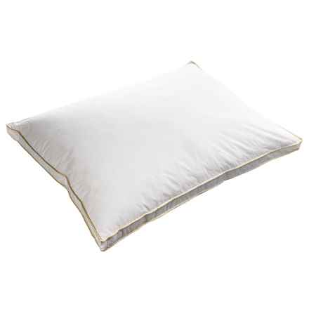 Melange Home Fashions Down Alternative Pillow - Oversized, Firm in White W/Yellow Piping - Overstock