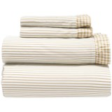 Melange Home Gingham Ruffle Sheet Set - King, 300 TC