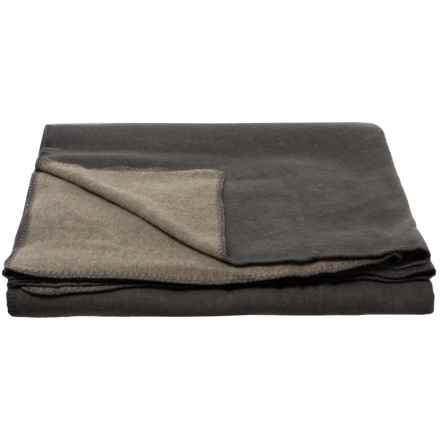 Melange Home Grey-Charcoal Australian Merino Wool Blanket - Full-Queen in Grey/Charcoal - Closeouts
