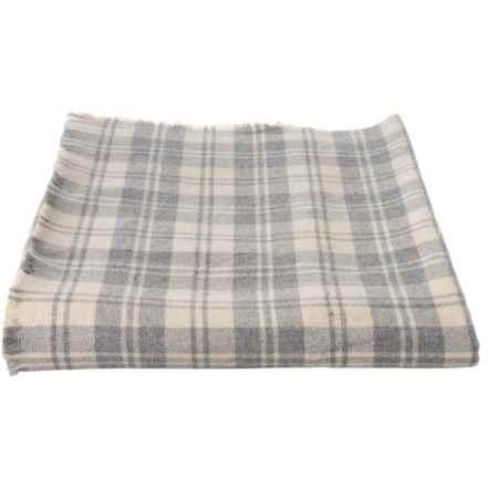 Melange Home Grey-Ivory Granite Yarn-Dyed Blanket - King, Wool-Blend in Grey/ Ivory - Closeouts