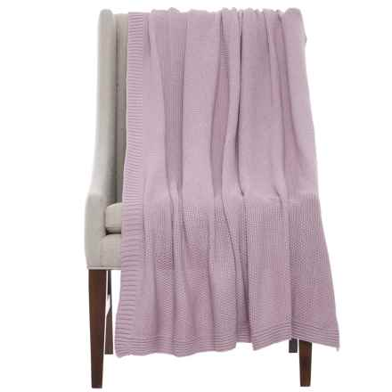 """Melange Home Hampton Heavy-Knit Throw Blanket - 50x70"""" in Lilac - Closeouts"""