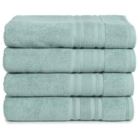 Melange Home Haute Monde Bath Towel Set - Turkish Cotton, 4-Piece in Celestial Blue - Closeouts