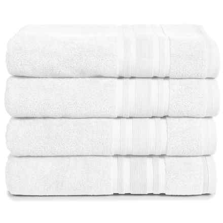 Melange Home Haute Monde Bath Towel Set - Turkish Cotton, 4-Piece in White - Closeouts