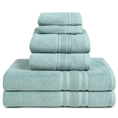 Melange Home Haute Monde Bath Towel Set - Turkish Cotton, 6-Piece in Celestial Blue