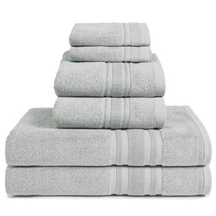 Melange Home Haute Monde Bath Towel Set - Turkish Cotton, 6-Piece in Pebble Grey - Closeouts