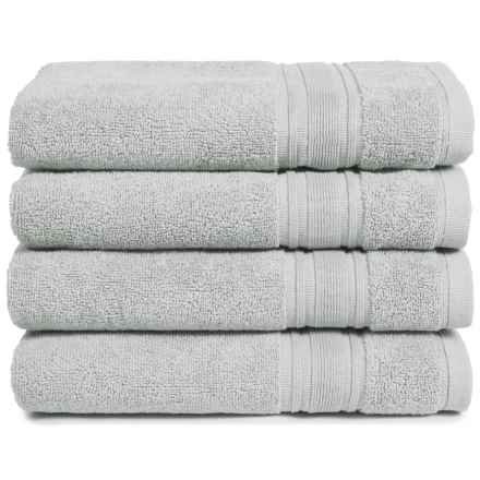 Melange Home Haute Monde Hand Towel Set - Turkish Cotton, 4-Piece in Pebble Grey - Closeouts