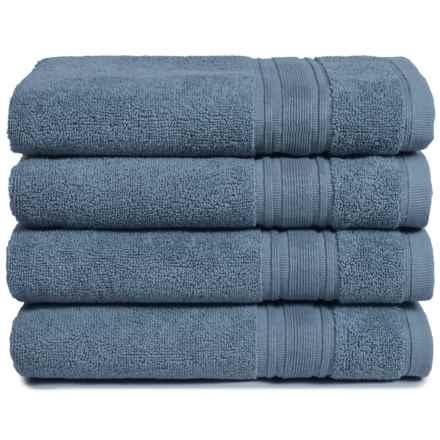 Melange Home Haute Monde Hand Towel Set - Turkish Cotton, 4-Piece in Slate Blue - Closeouts