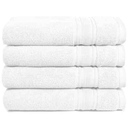 Melange Home Haute Monde Hand Towel Set - Turkish Cotton, 4-Piece in White - Closeouts