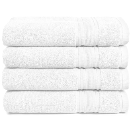 Melange Home Haute Monde Hand Towel Set - Turkish Cotton, 4-Piece in White