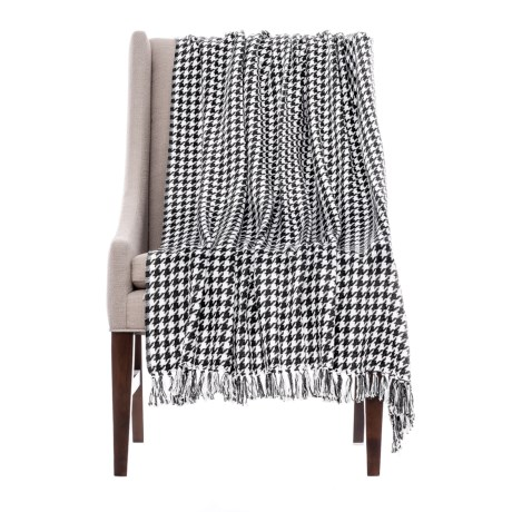 "Melange Home Houndstooth Throw Blanket - 50x70"" in Black"