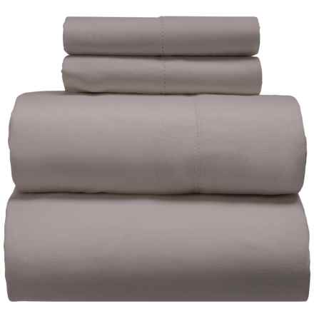 Melange Home Linen-Cotton Sheet Set - California King in Stone Grey - Closeouts