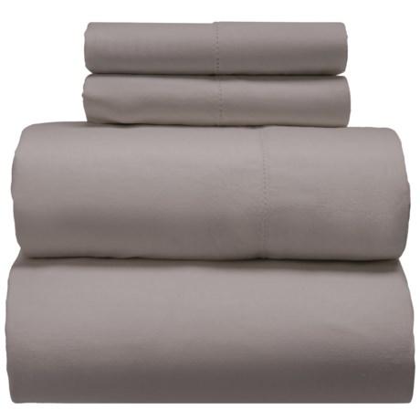 Melange Home Linen-Cotton Sheet Set - Full in Stone Grey