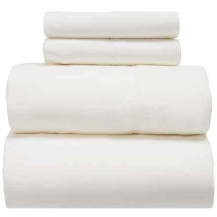 Melange Home Linen-Cotton Sheet Set - Queen in White - Closeouts