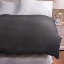 Melange Home Linen Duvet Cover - Full/Queen in Dark Grey - Overstock