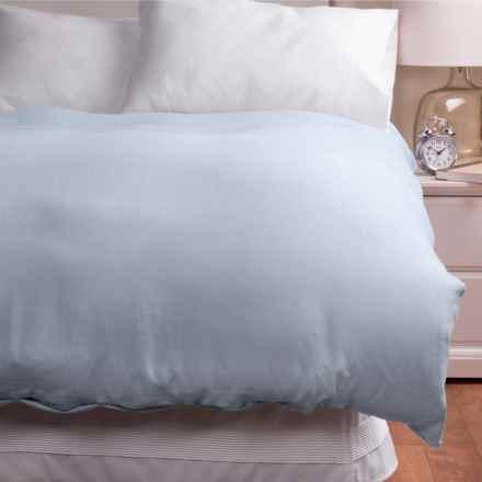 Melange Home Linen Duvet Cover - Full/Queen in Lt Grey - Overstock