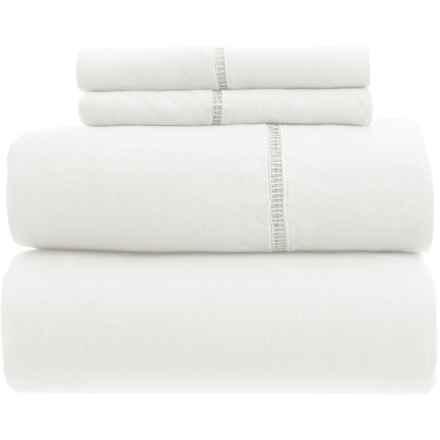 Melange Home Linen Ladder Hem Sheet Set - Full in White - Closeouts