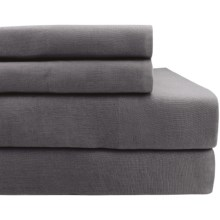 Melange Home Linen Sheet Set - King in Dark Grey - Closeouts