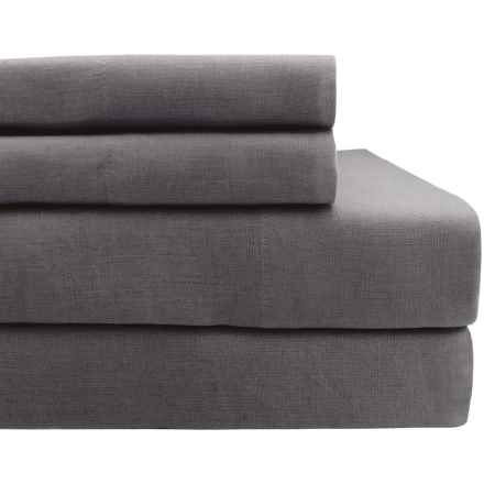 Melange Home Linen Sheet Set - Queen in Dark Grey - Closeouts