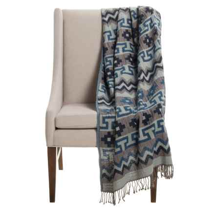 "Melange Home Mojave Throw Blanket - 50x70"", Cotton-Wool in Mojave - Closeouts"