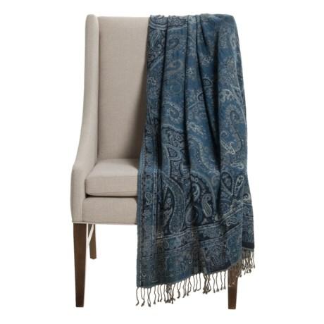 "Melange Home Mojave Throw Blanket - 50x70"", Cotton-Wool in Paisley"