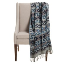"Melange Home Mojave Throw Blanket - Cotton-Wool Blend, 50x70"" in Mojave - Closeouts"