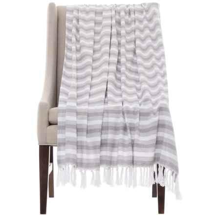 "Melange Home Multi-Stripe Throw Blanket - 50x70"" in Grey - Closeouts"