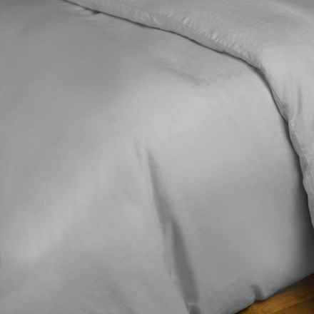 Melange Home Natural Linen Duvet Cover - King in Grey - Closeouts