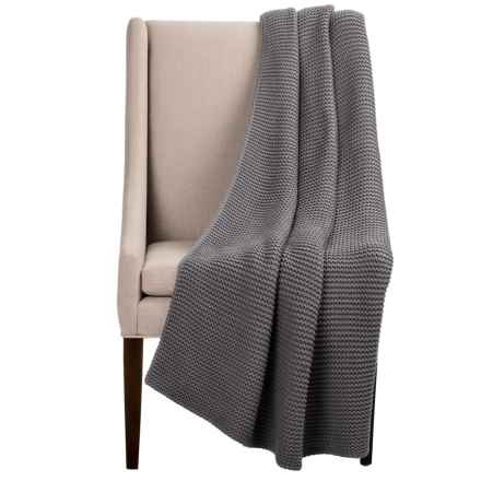 "Melange Home North Branch Cotton Throw Blanket - 50x70"" in Grey - Closeouts"