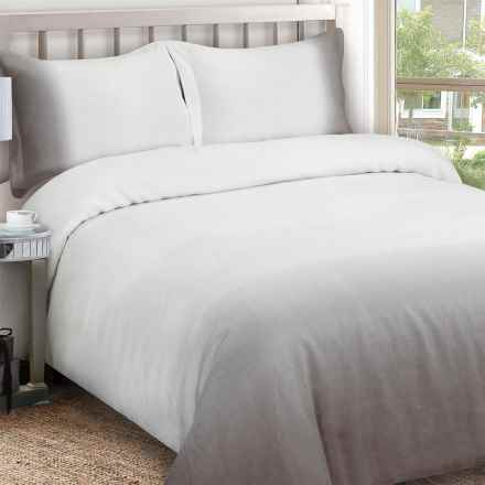 Melange Home Ombre Duvet Set - King, Linen in Ombre Grey - Closeouts