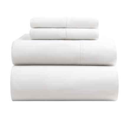 Melange Home Organic Cotton Sheet Set - King, 400 TC in White - Closeouts