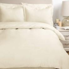Melange Home Percale Two-Pleat Duvet Set - Full/Queen, 300 TC Egyptian Cotton in Gardenia Iv - Overstock