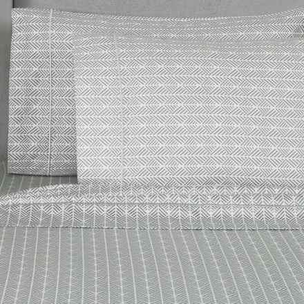 Melange Home Printed Sheet Set - King, 400 TC Cotton in Grey Arrows - Closeouts
