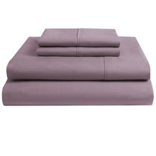Melange Home Pure Percale Sheet Set - King, 250 TC Cotton in Orchid - Overstock