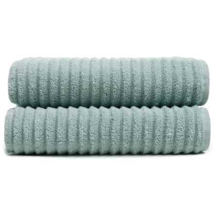 Melange Home Ribbed Bath Towels - 2-Piece Set, Turkish Cotton in Celestial Blue - Closeouts
