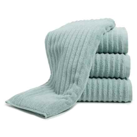 Melange Home Ribbed Hand Towels - 4-Piece Set, Turkish Cotton in Celestial Blue - Closeouts
