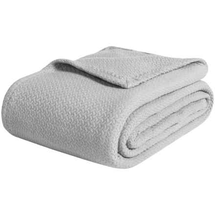 Melange Home Ring-Spun Combed Cotton Blanket - King in Grey - Closeouts