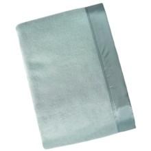 Melange Home Silk Blanket - Full-Queen in Blue - Closeouts