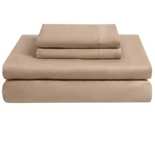 Melange Home Solid Sateen Sheet Set - King, 300 TC Combed Cotton in Taupe - Overstock