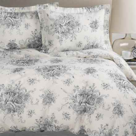 Melange Home Toile Duvet Set - Full-Queen, Linen-Cotton in Charcoal/Natural - Closeouts
