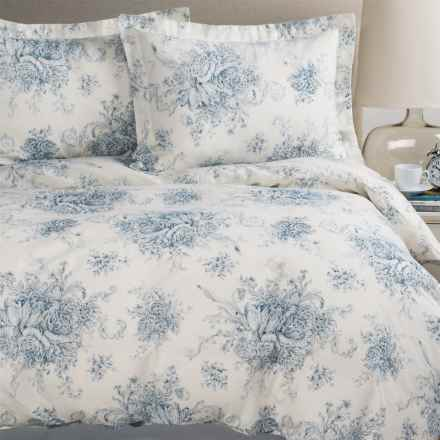 Melange Home Toile Duvet Set - Full-Queen, Linen-Cotton in Navy/Natural - Closeouts