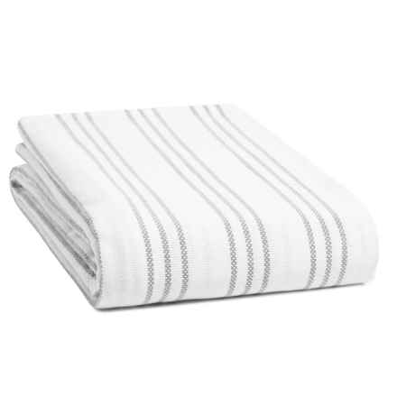 Melange Home Triple-Stripe Blanket - Full-Queen in Grey - Closeouts