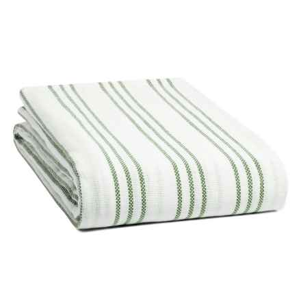 Melange Home Triple-Stripe Blanket - Full-Queen in Kale Green - Closeouts