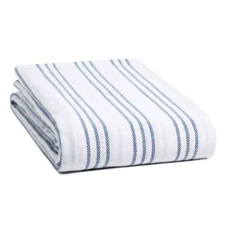 Melange Home Triple-Stripe Blanket - Twin-Twin XL in Denim Blue - Closeouts