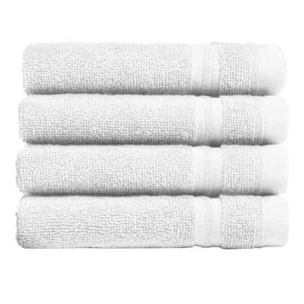 Melange Home Turkish Cotton Washcloths - 4-Piece Set in White - Closeouts