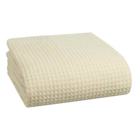 Melange Home Waffle-Weave Wool Blanket - Full-Queen in Ivory - Closeouts