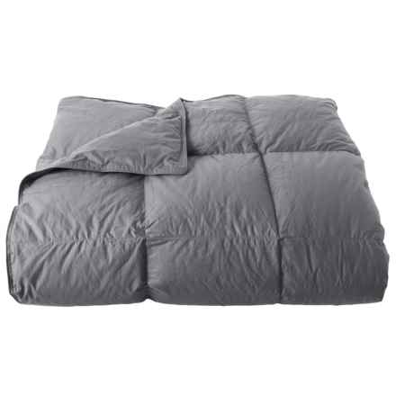 Melange Home White Duck Down Charcoal Grey Comforter - King, 233 TC in Charcoal Grey - Closeouts