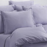 Melange Home Wide Dobby Stripe Duvet Set - King, 400 TC