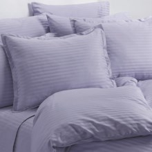 Melange Home Wide Dobby Stripe Duvet Set - King, 400 TC in Lavender - Overstock